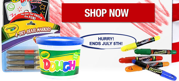 Save an additional 15% on Crayola products!
