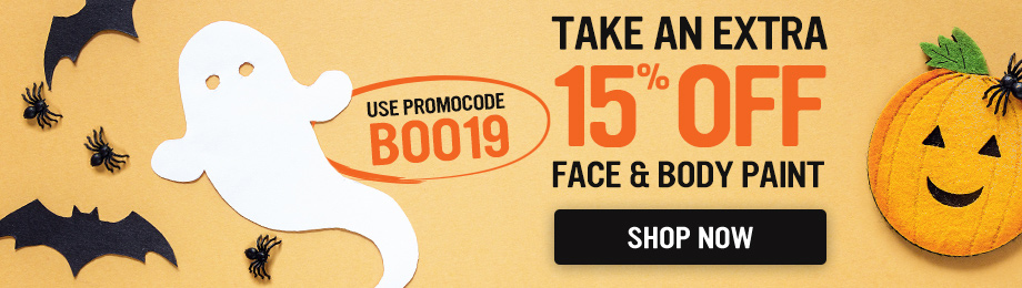 15% Off Face & Body Paints - Use Promo Code BOO19