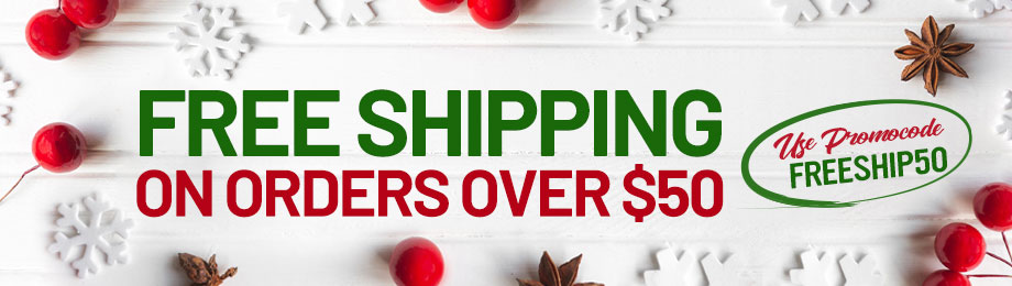 Free Shipping on orders over $50!