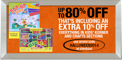 Up to 80% Off Crafts and Kids Korner!