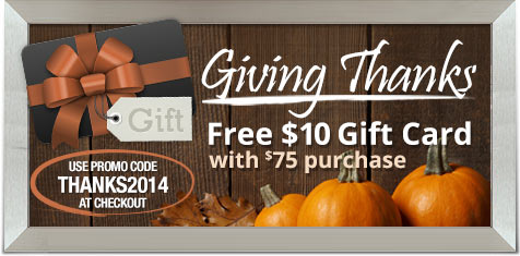Free $10 Gift Card with $75 purchase