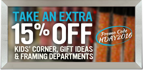 Extra 15% Off of Kids' Corner, Gift Ideas & Framing!
