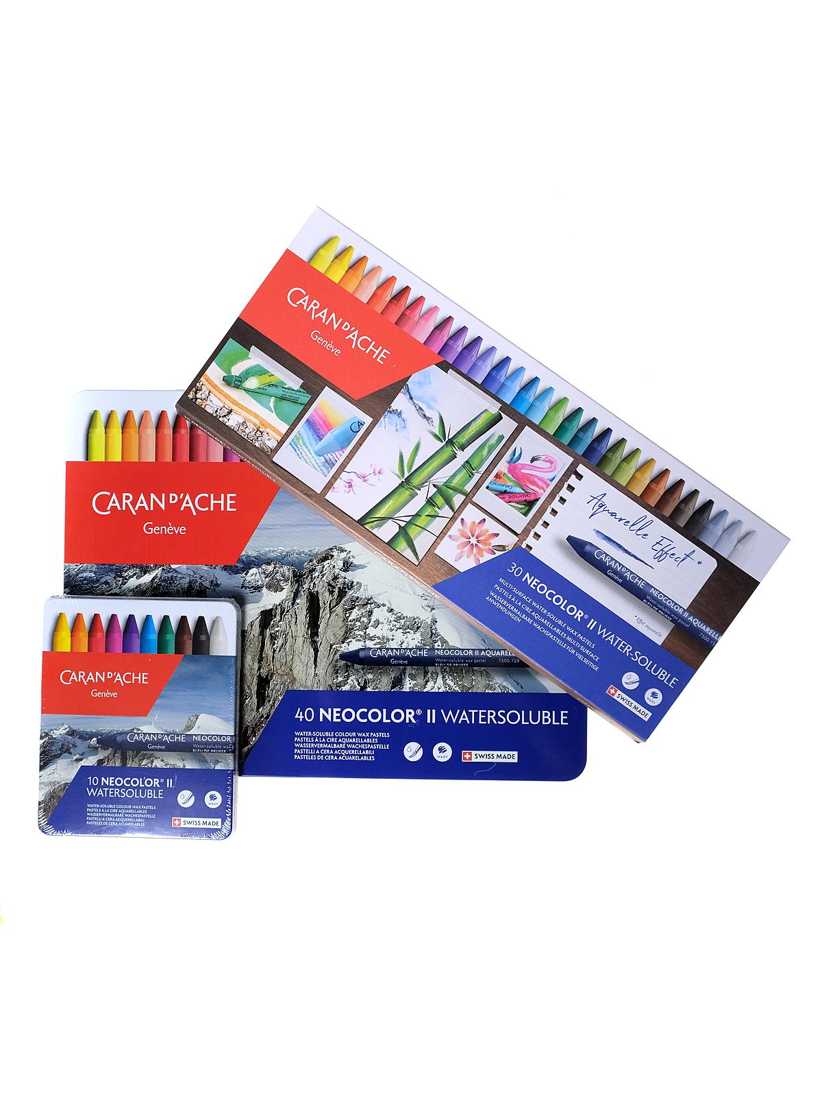 Neocolor II Aquarelle Water Soluble Wax Pastel Sets