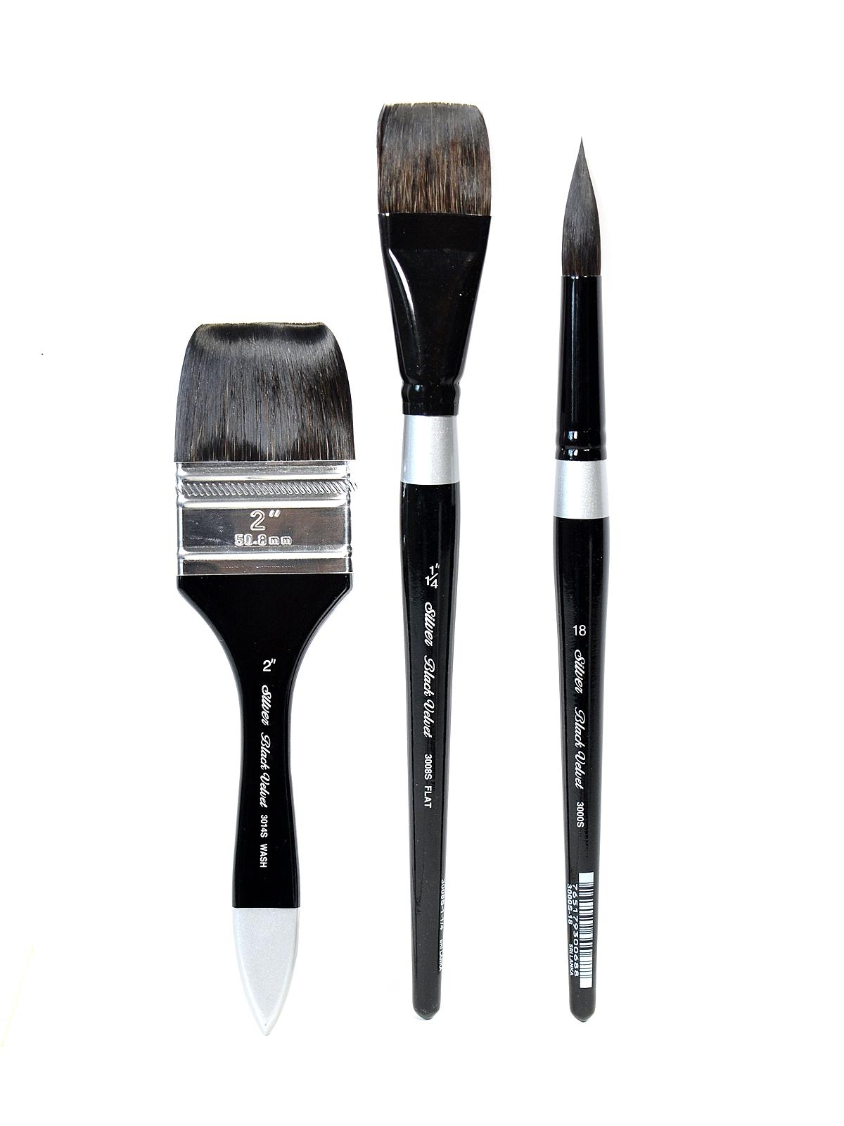 Silver Brush Black Velvet Series Brushes