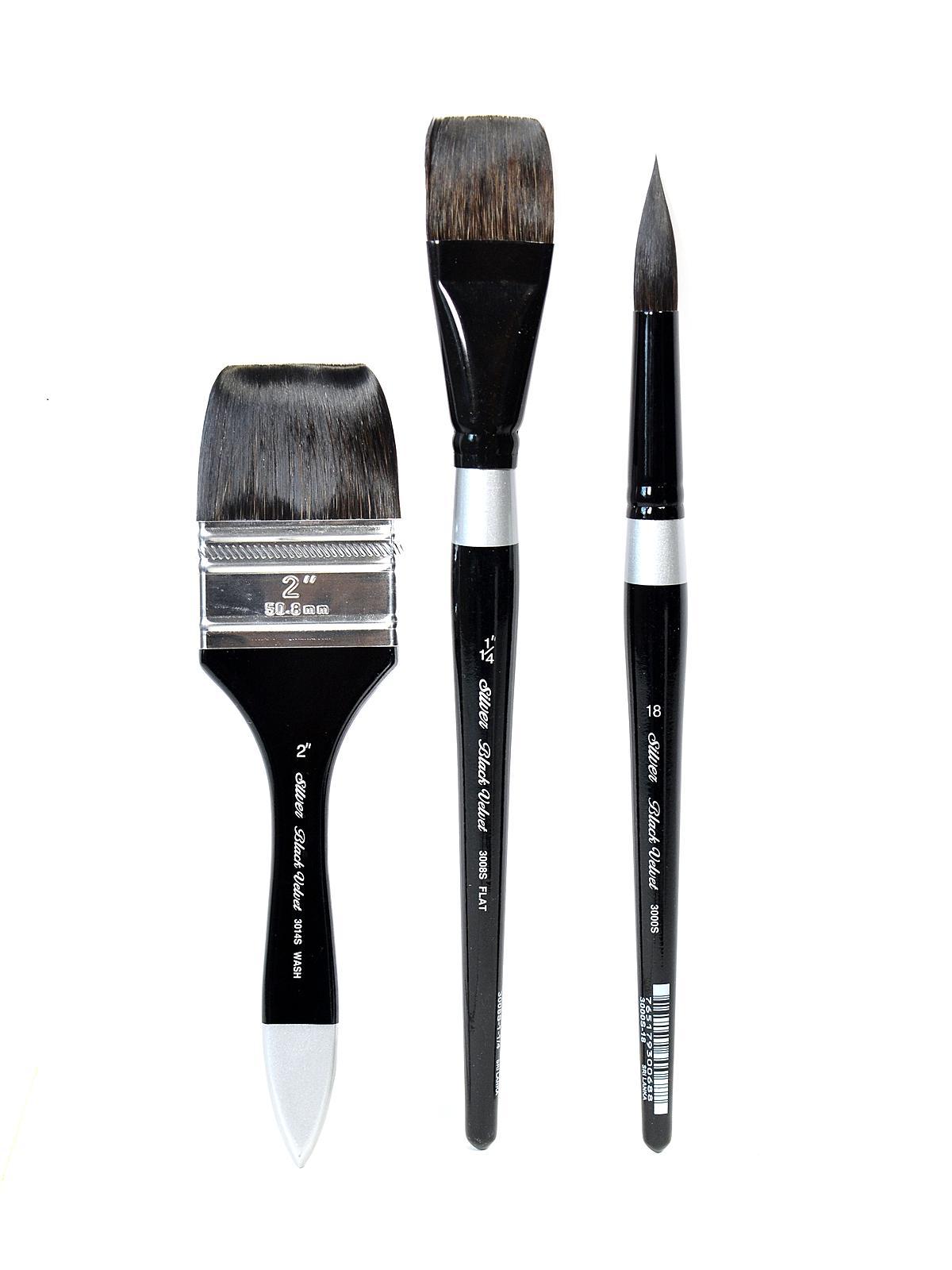 Silver Brush Black Velvet Series Brushes Misterart Com