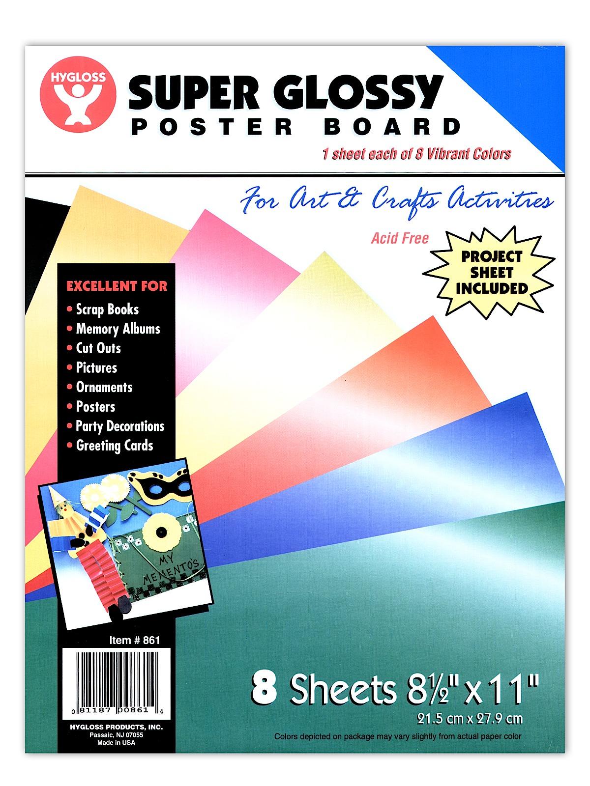 Hygloss Super Glossy Poster Board | MisterArt.com