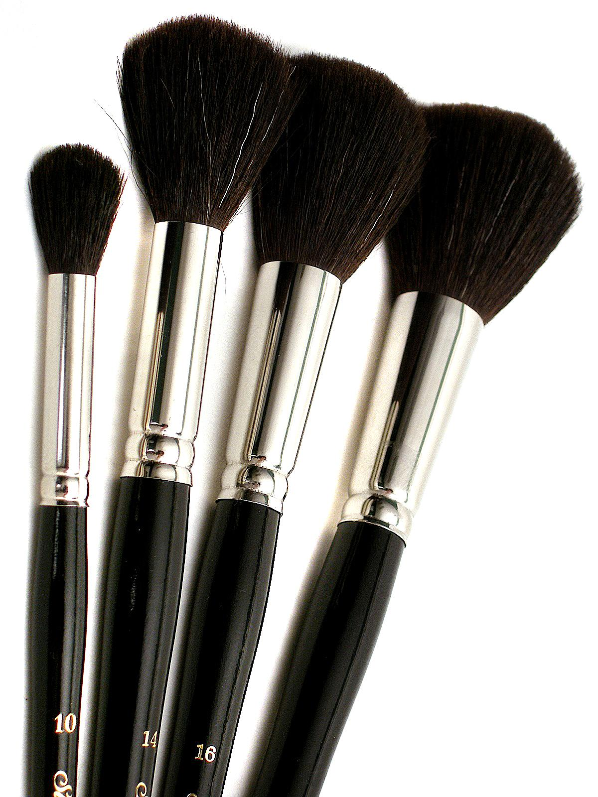 Silver Brush Black Round Oval Mop Brushes MisterArtcom