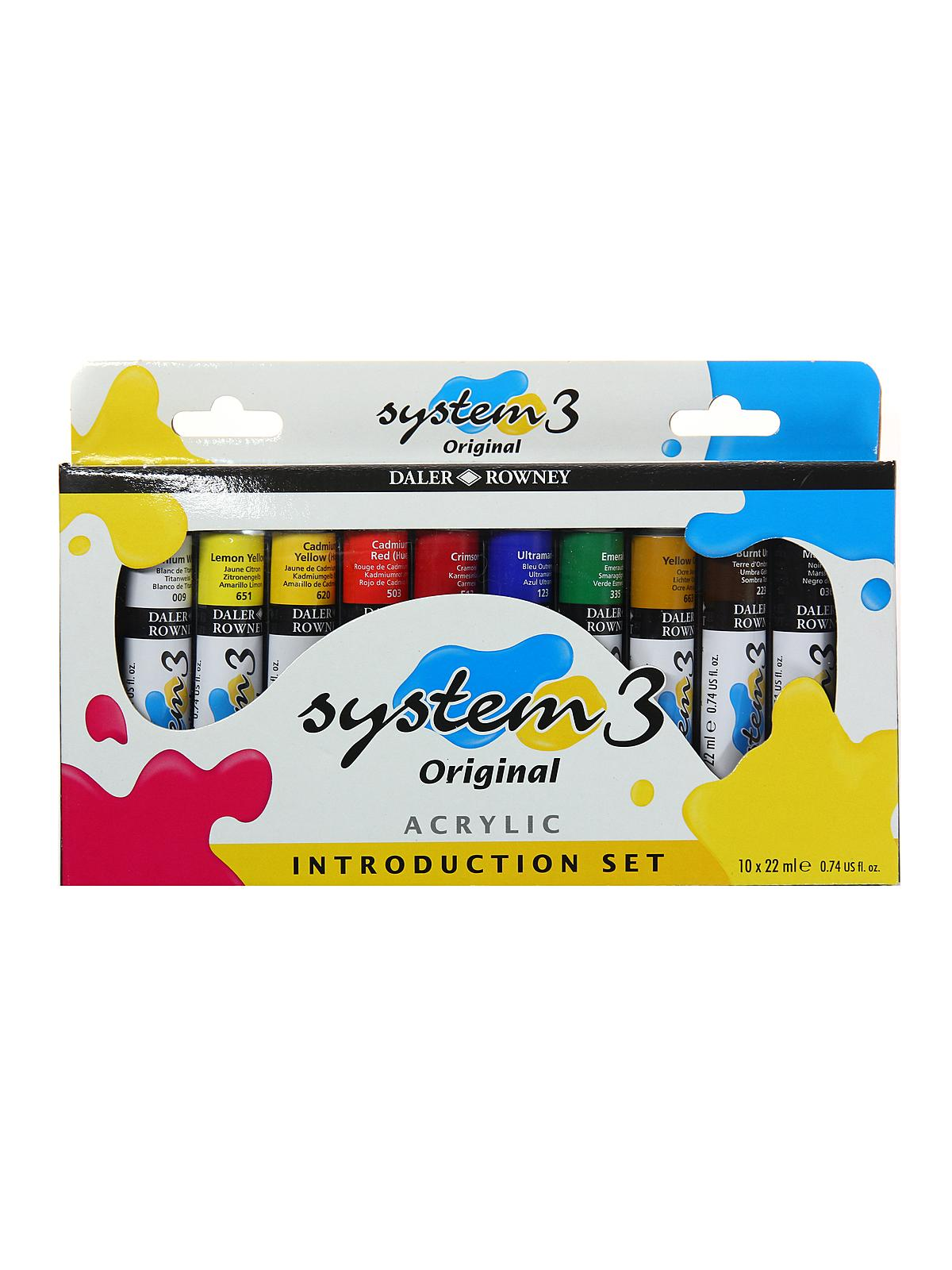 System 3 Acrylic Paint Sets