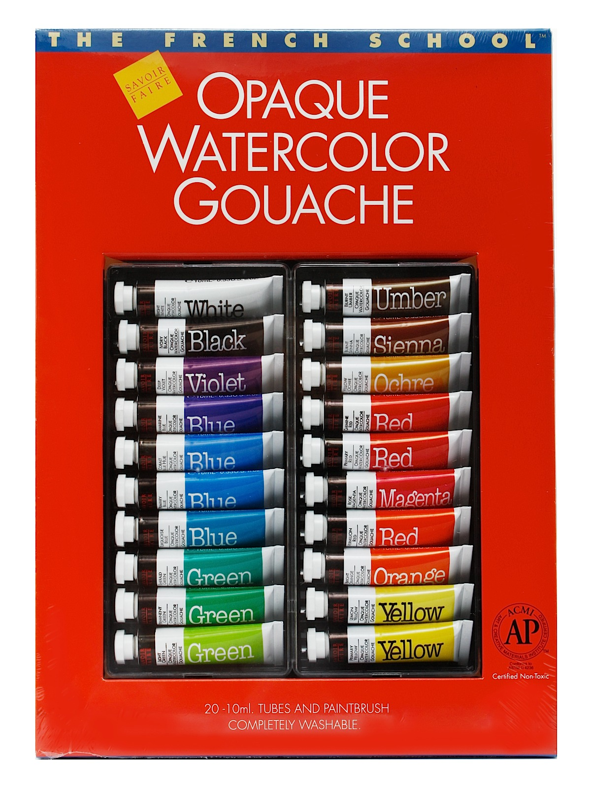 The French School Opaque Watercolor Gouache Tube Sets