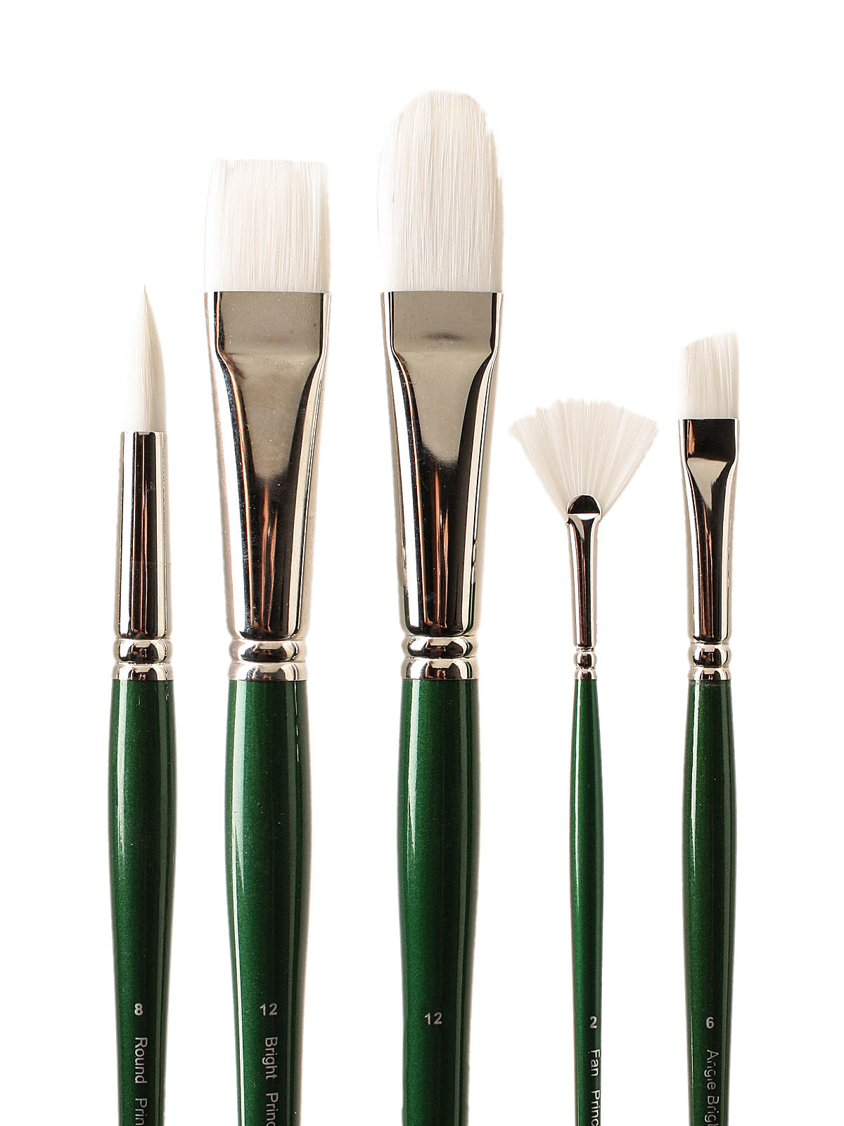 6100 Summit White Synthetic Long Handle Brushes