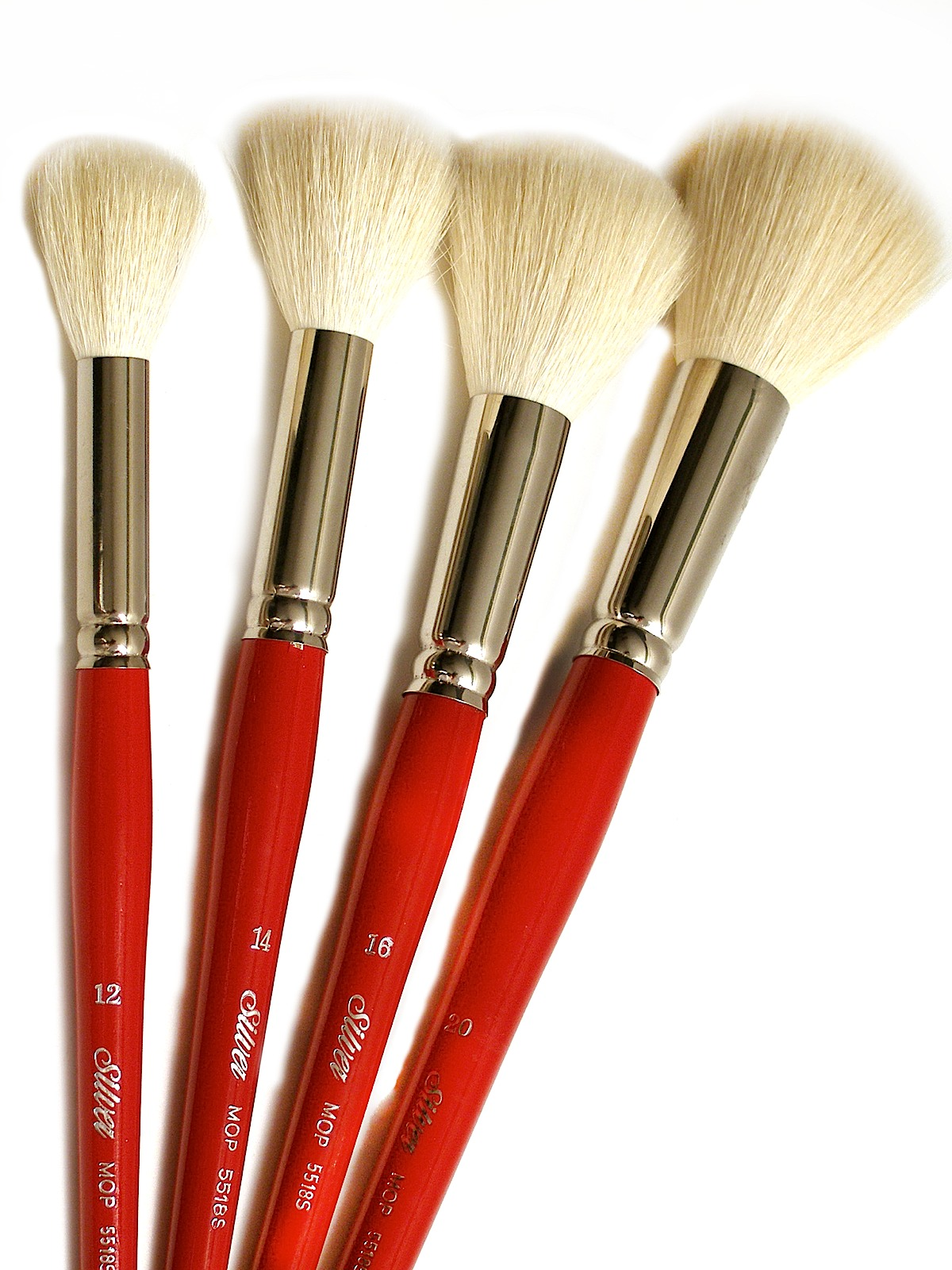 Silver Brush White Round Oval Mop Brushes Misterart Com