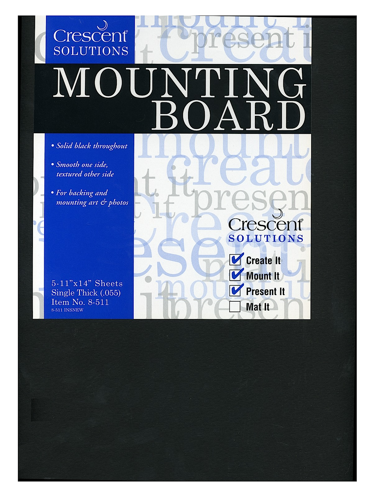 Crescent - Ultra-Black Mounting Board