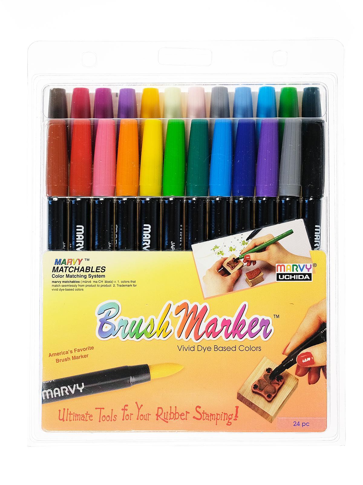 Marvy Uchida Brush Marker Misterart Com