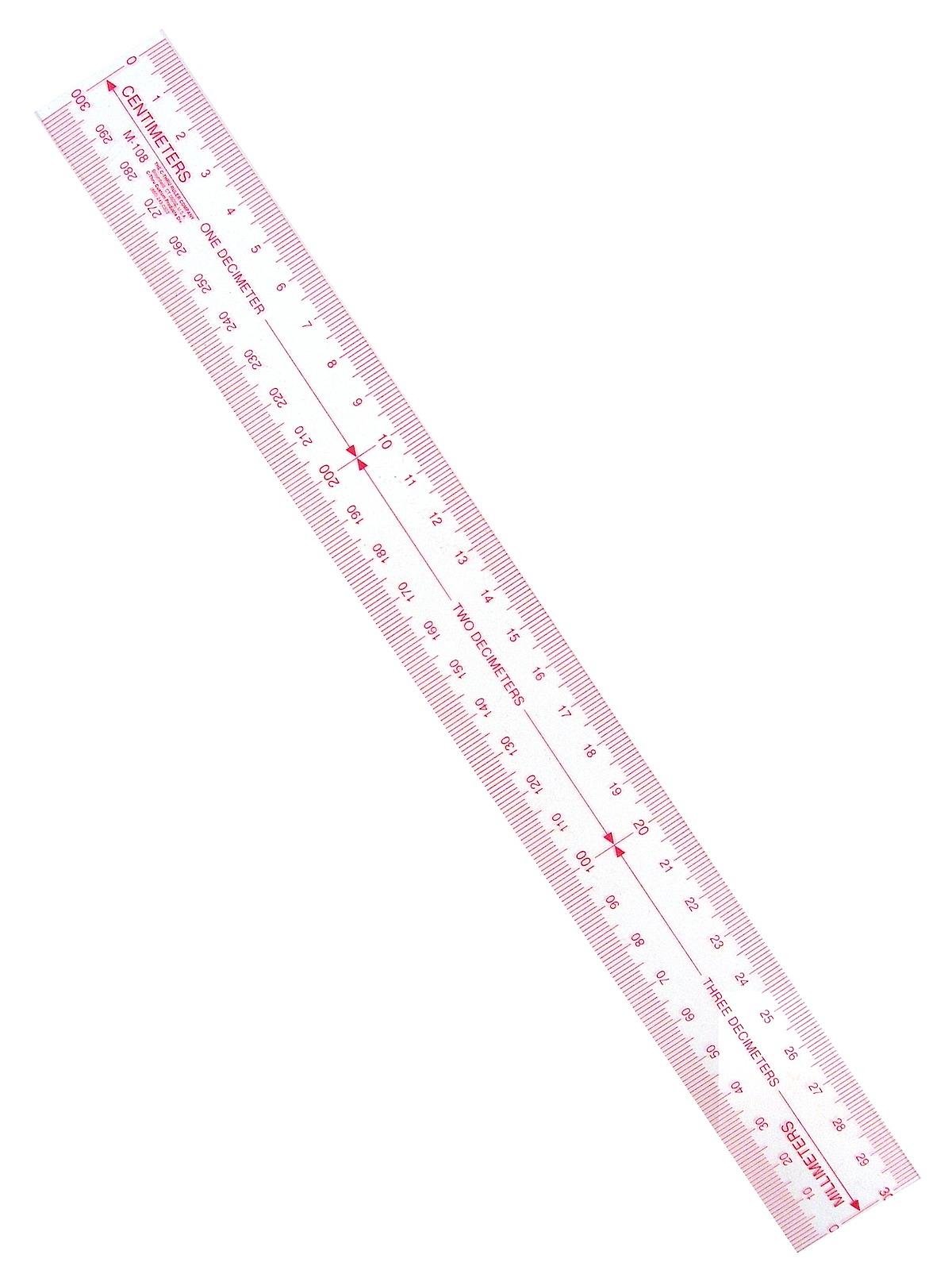 Westcott - Metric Transparent Ruler