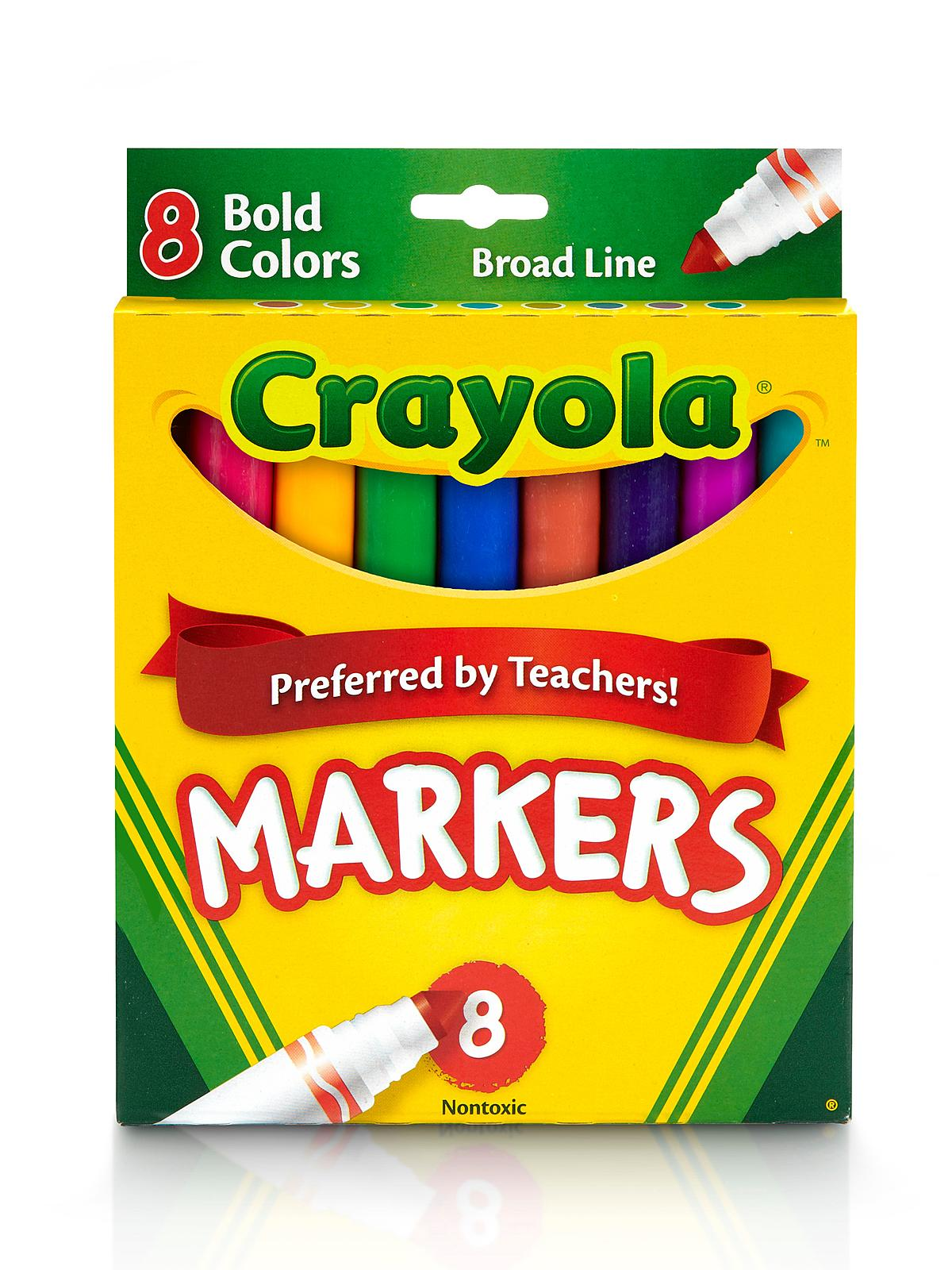 Broad Line Markers - Bold 8 Count
