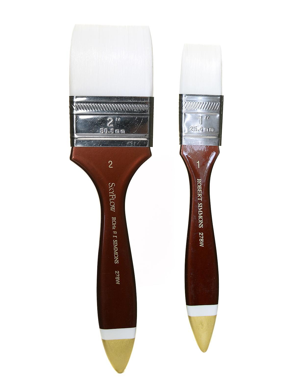 Robert Simmons White Sable Short Handle Brushes 10 round 785