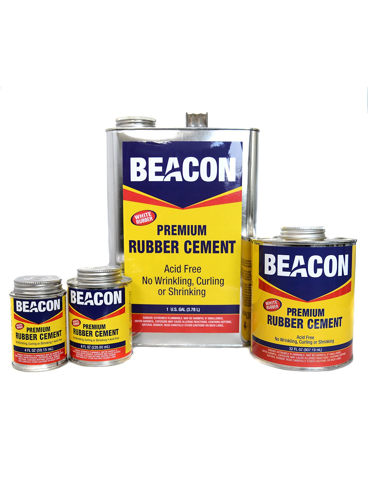 Beacon premium acid free white rubber cement for White cement art