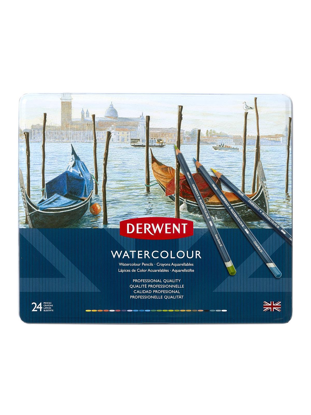 Derwent Watercolor Pencil Sets in Tins | MisterArt.com