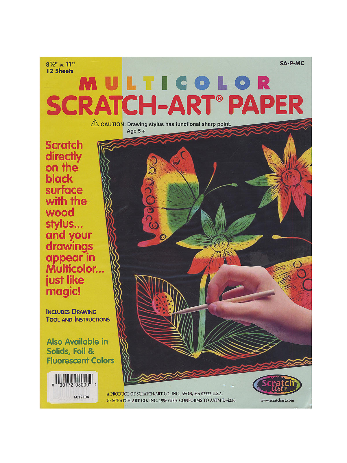 Multicolor Scratch-Art Paper