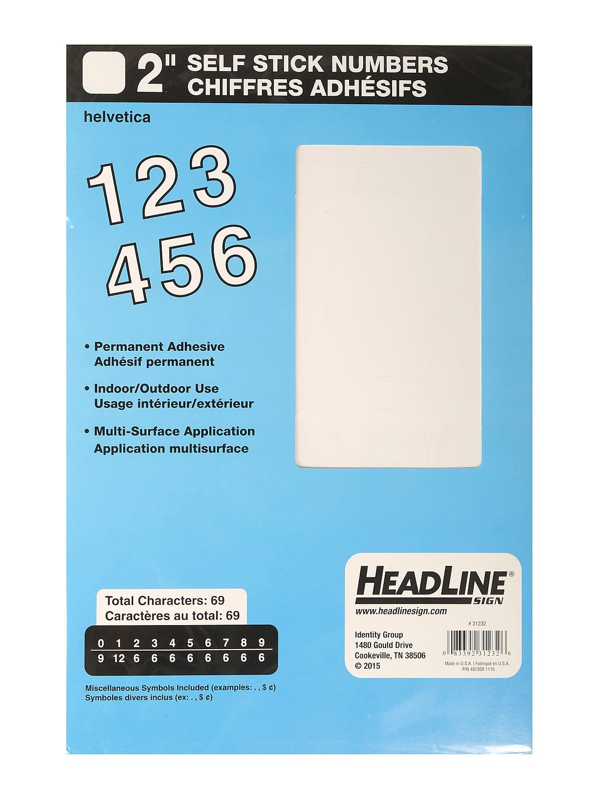 white vinyl stick on letters or numbers