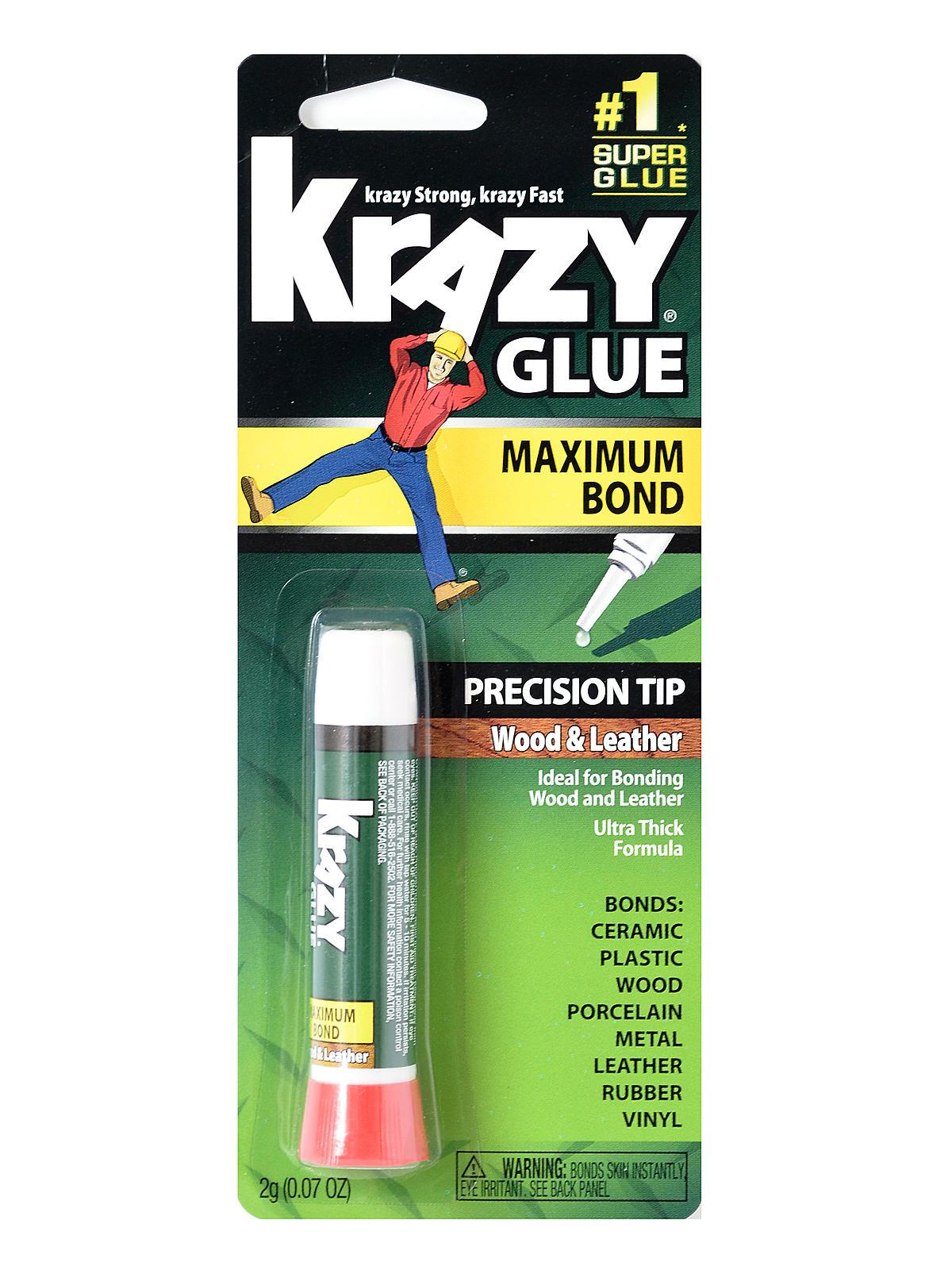 Instant Krazy Glue Original Formula For Wood & Leather