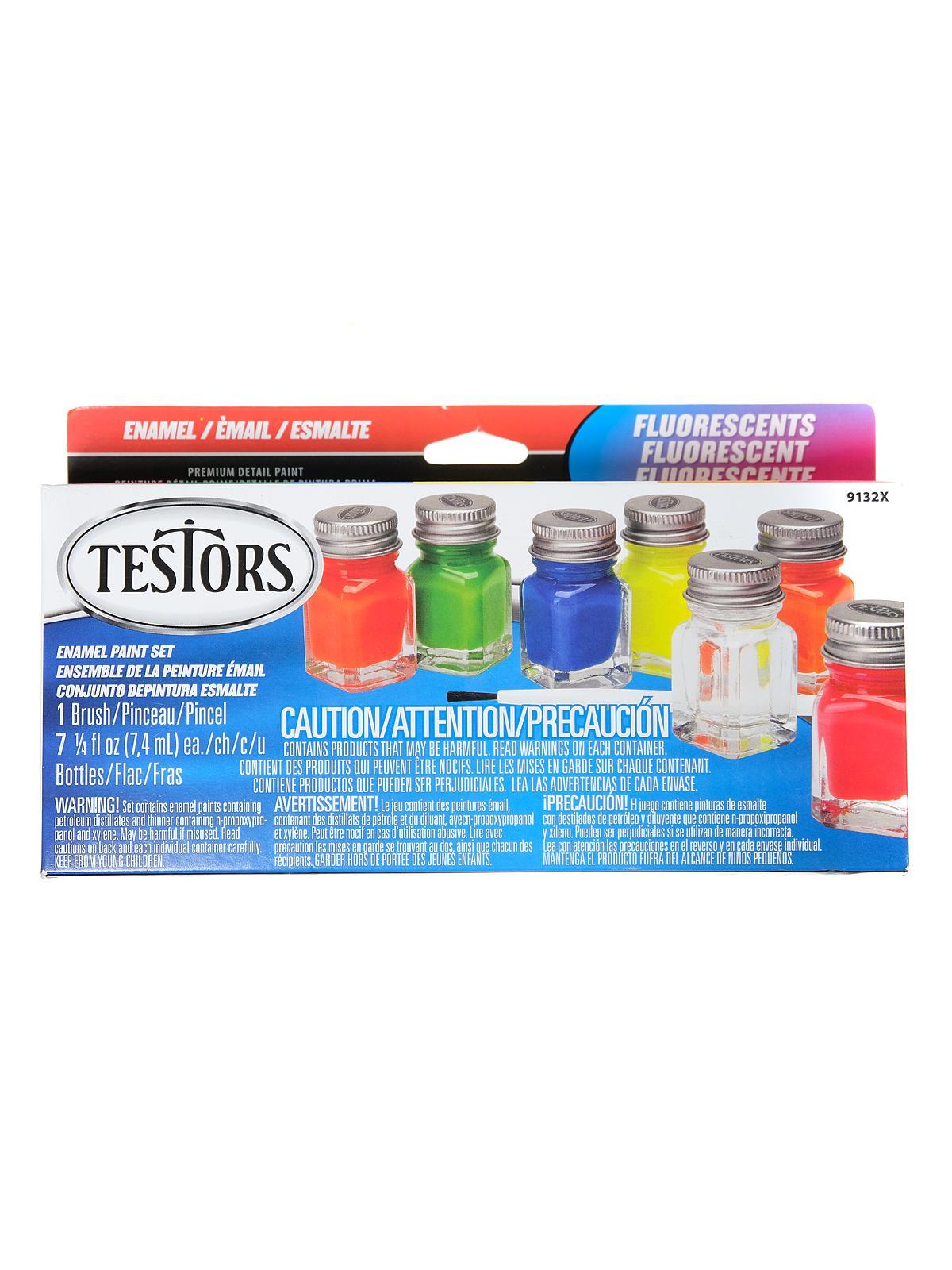Testors - Ultra Bright Fluorescent Paint Kit