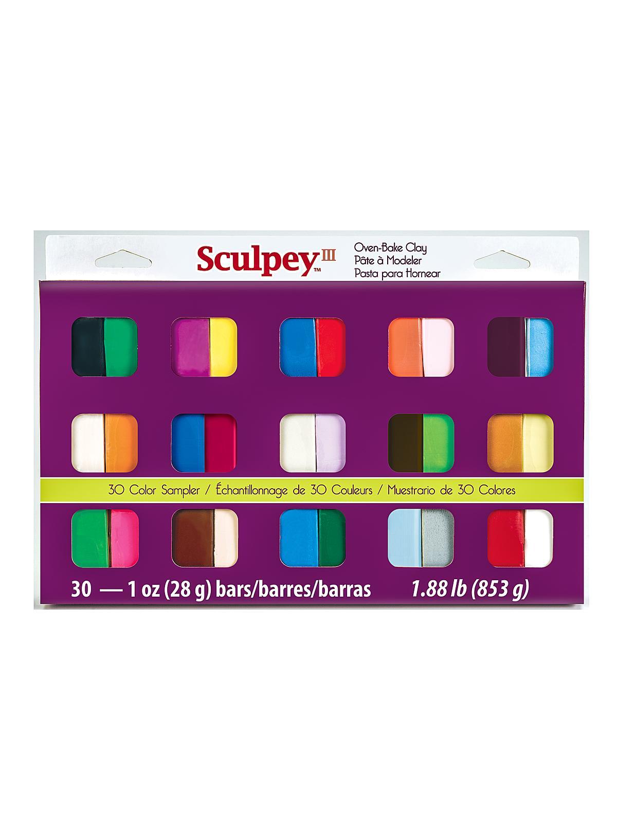 Sculpey - 30-Piece  III Sampler Set