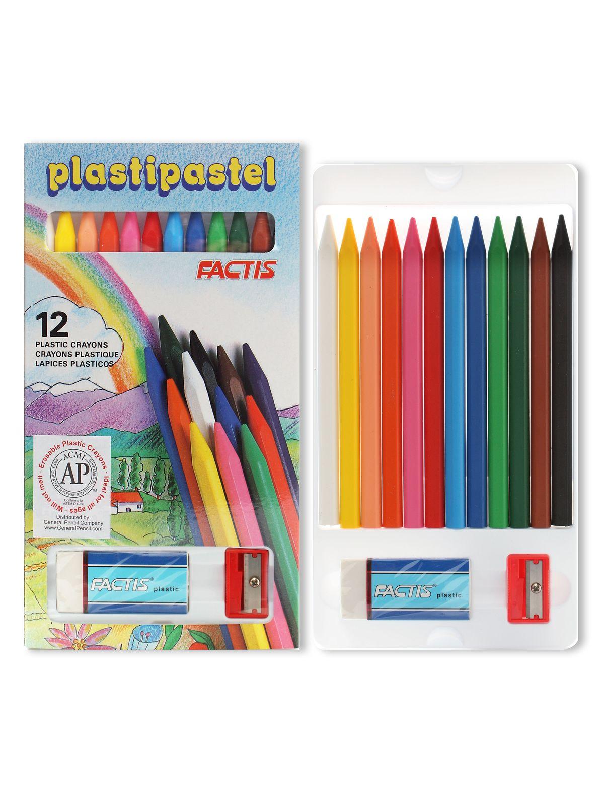 Factis Plasti-Pastels - 12 Color Set