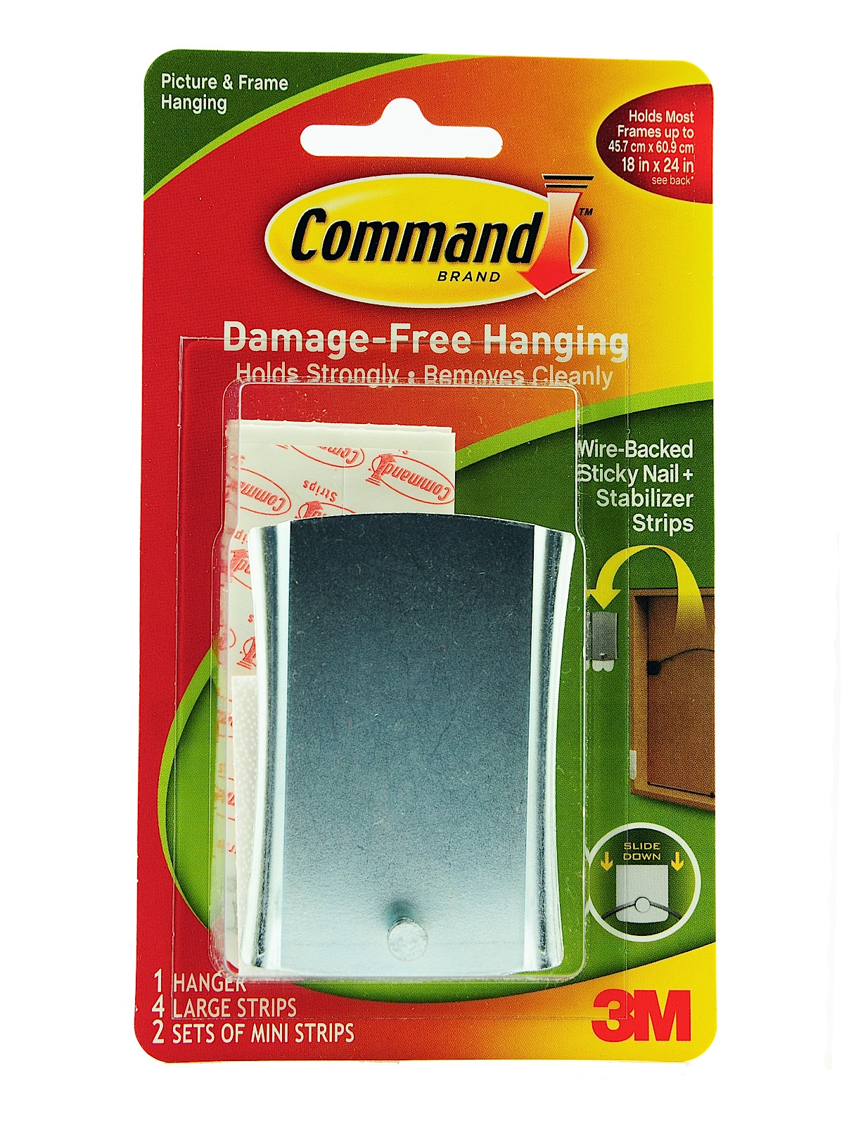Command Sticky Nail Wire-backed Metal Hanger