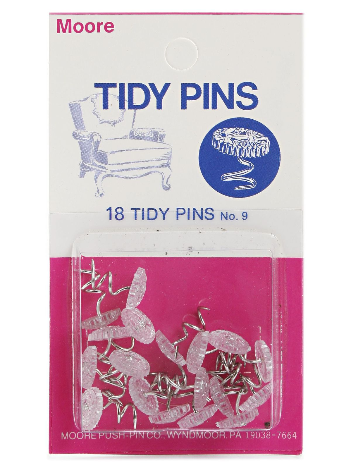 Household Hardware Tidy Twist Pin 18 pack