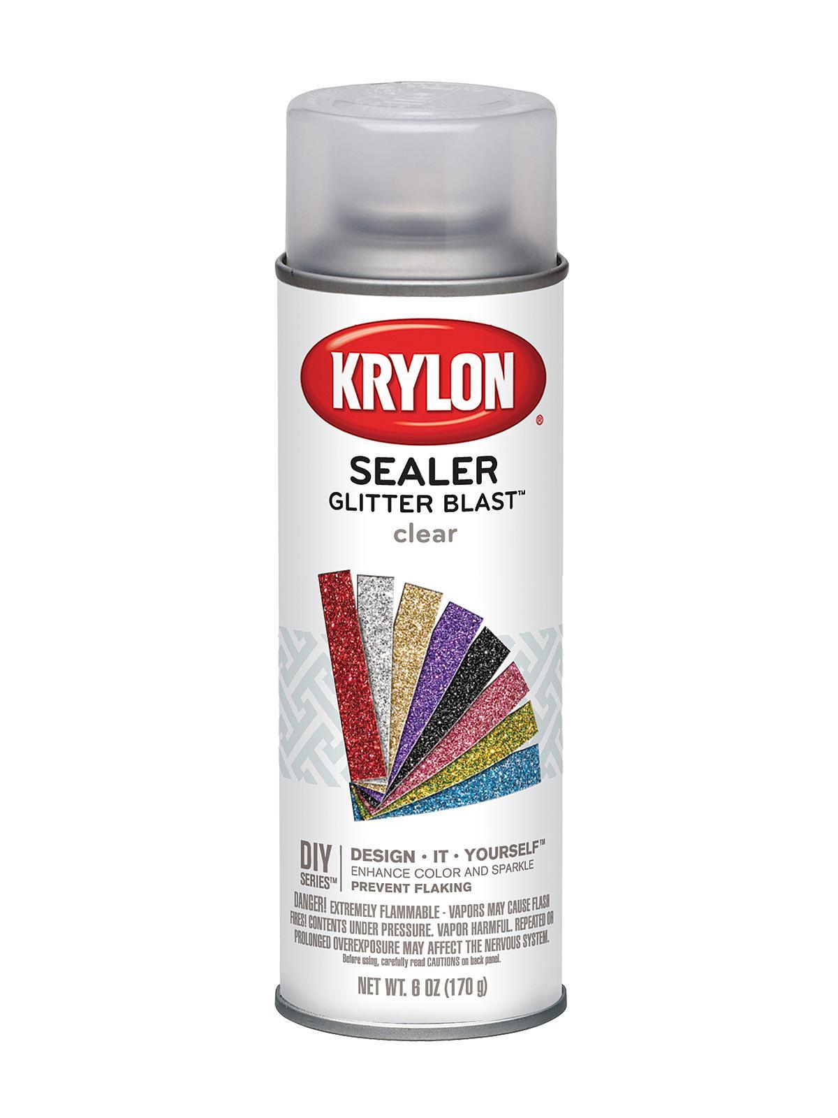 krylon glitter blast clear spray sealer On clear sealant for crafts