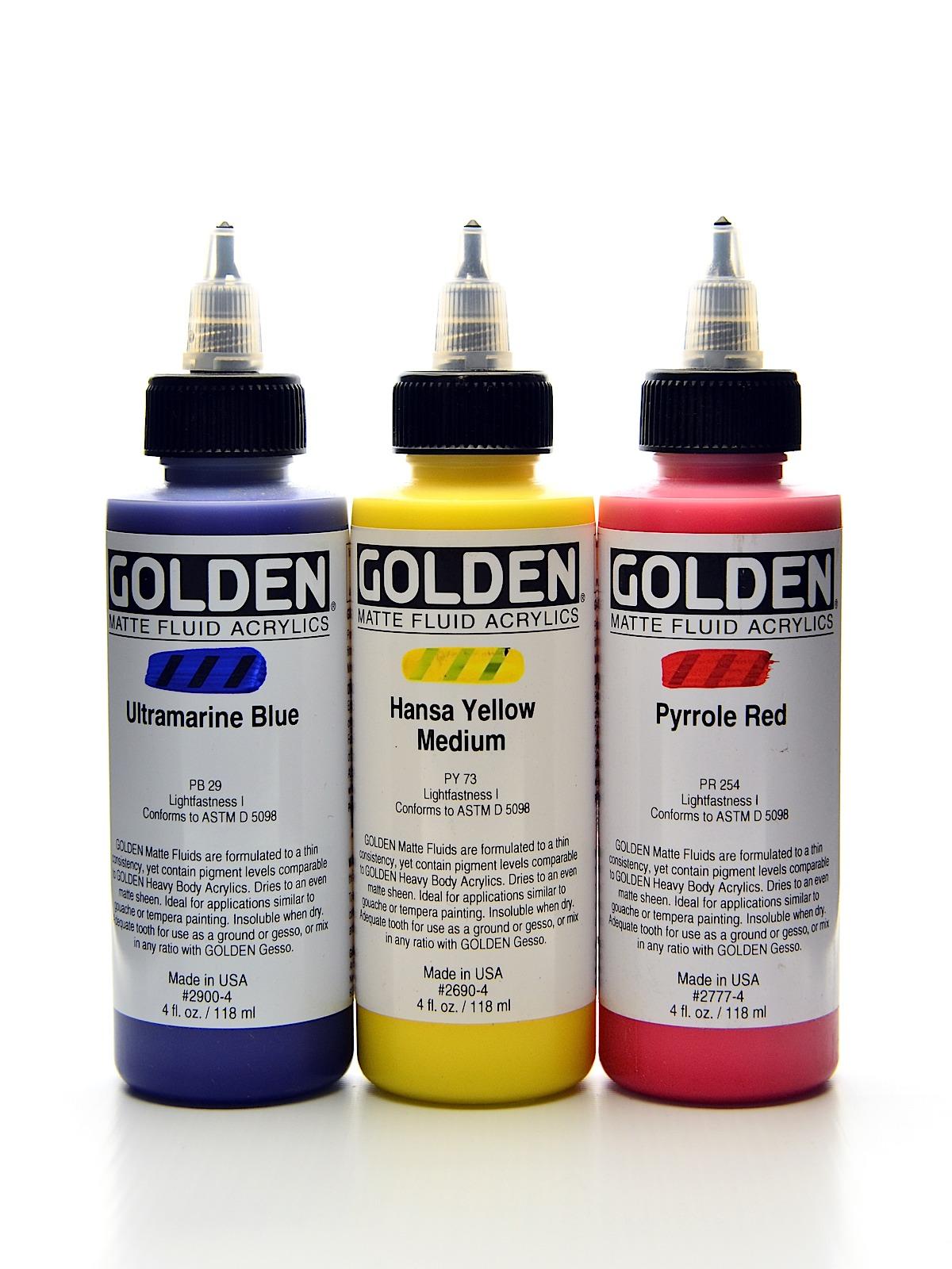 Golden Matte Fluid Acrylics Misterart Com