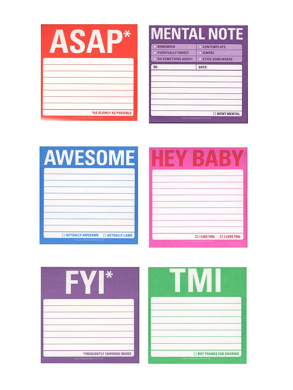 Sticky Note Pads