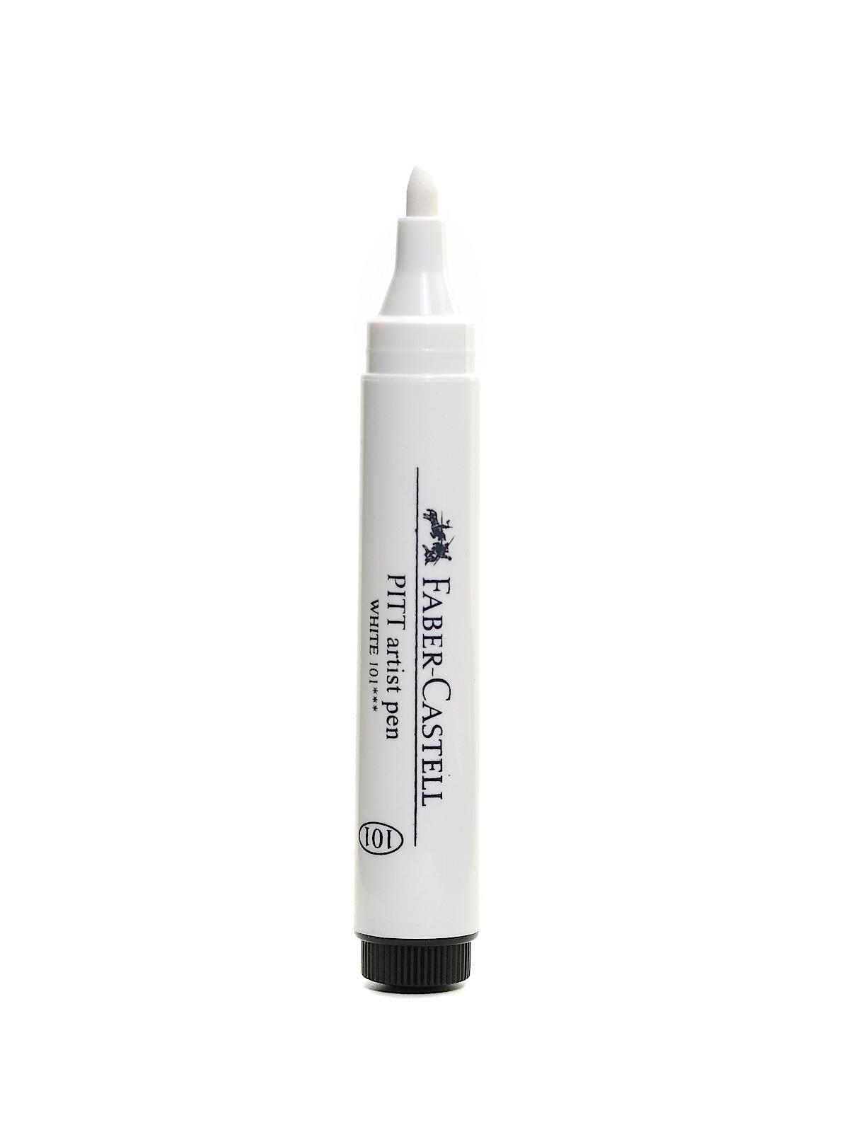 White Pitt Artist Pen