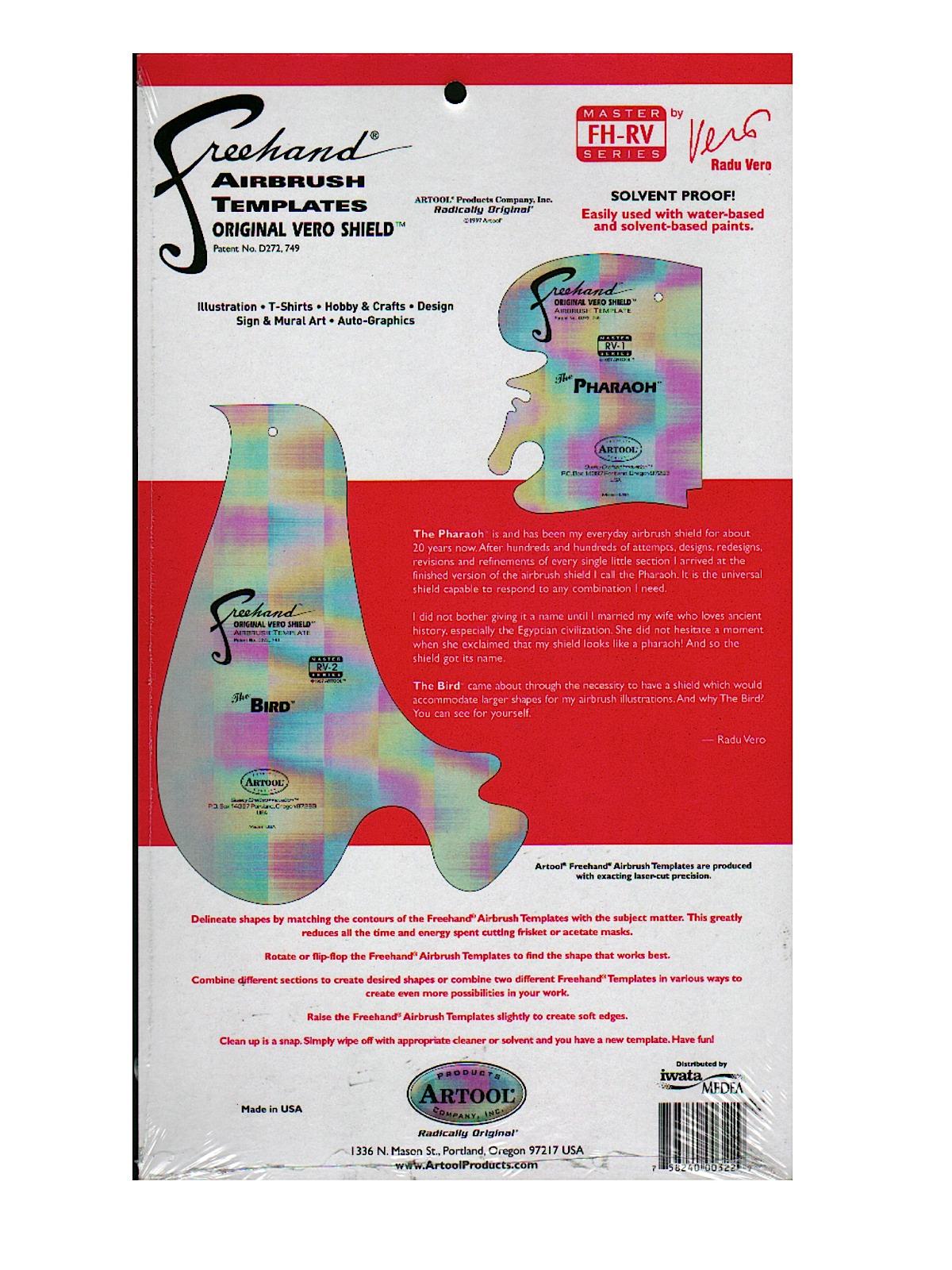 Freehand Airbrush Template Master Series by Radu Vero