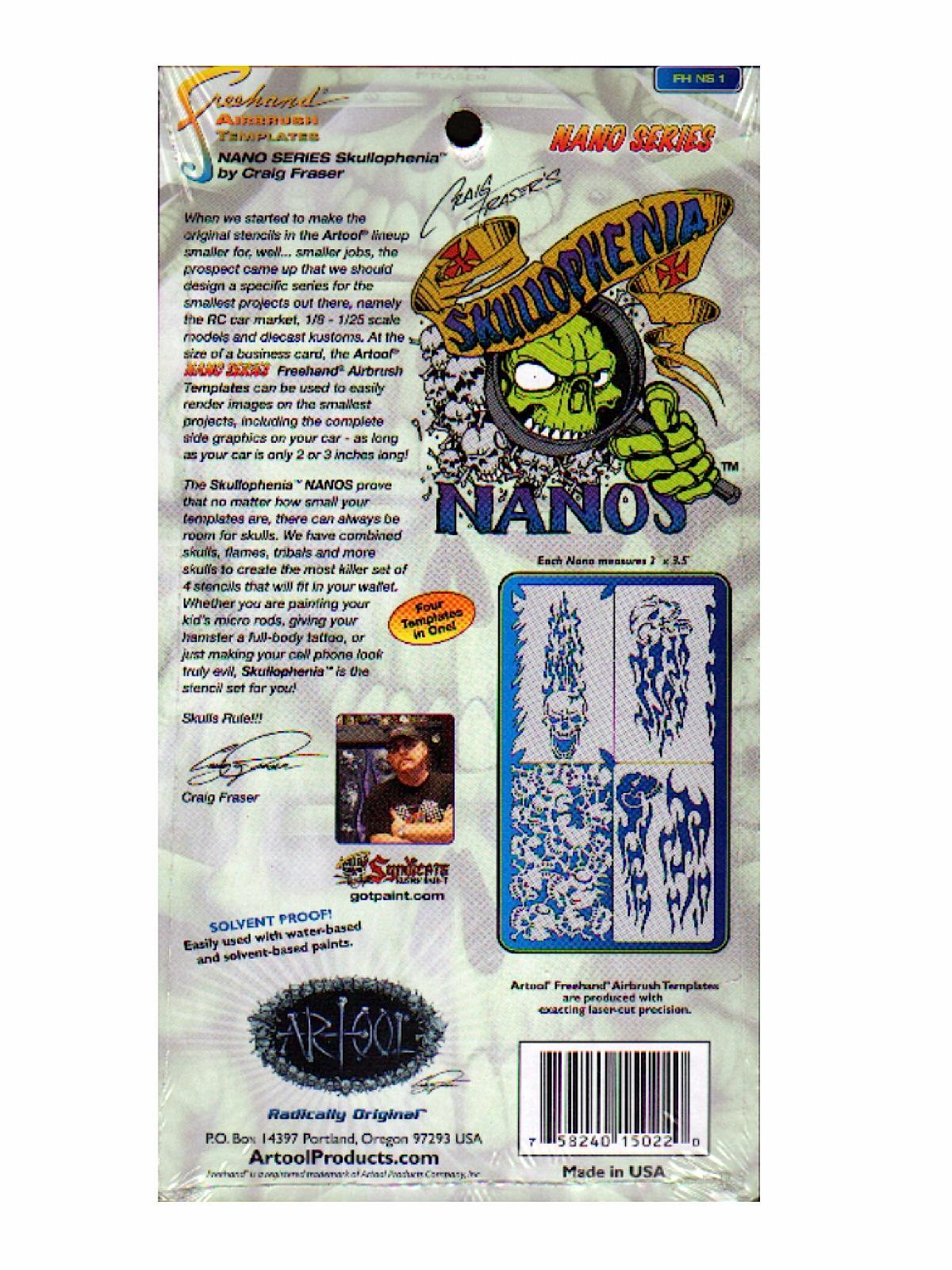 Skullophenia Nano Series Template card of 4