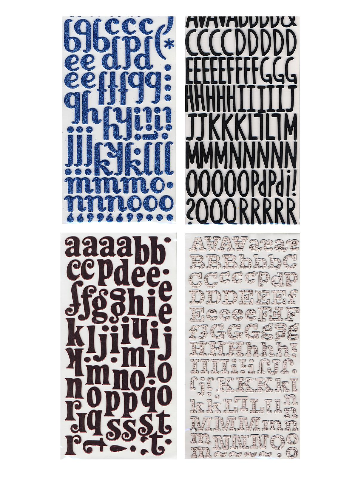 Thickers Dimensional Letters