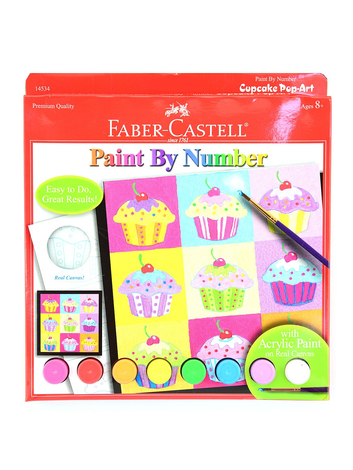 Faber-Castell - Paint by Number Cupcake Pop-Art