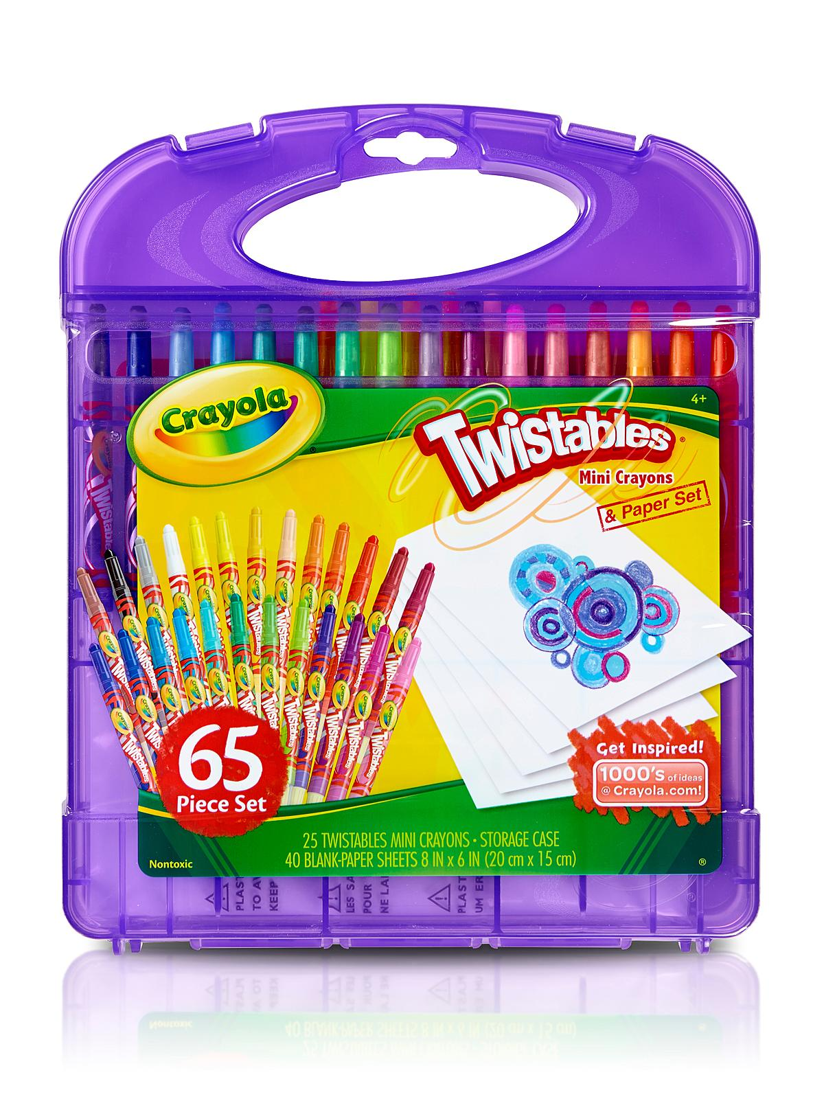 Mini Twistables Crayons & Paper Set