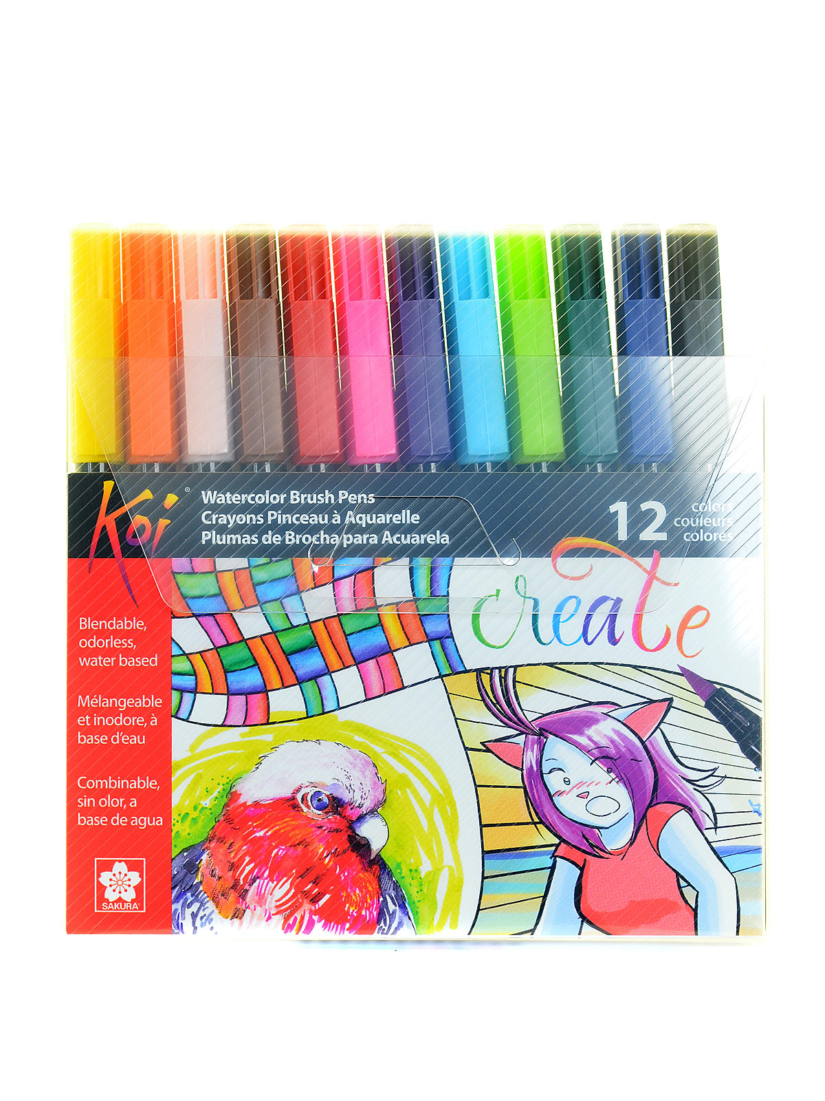 Koi Coloring Brush Sets