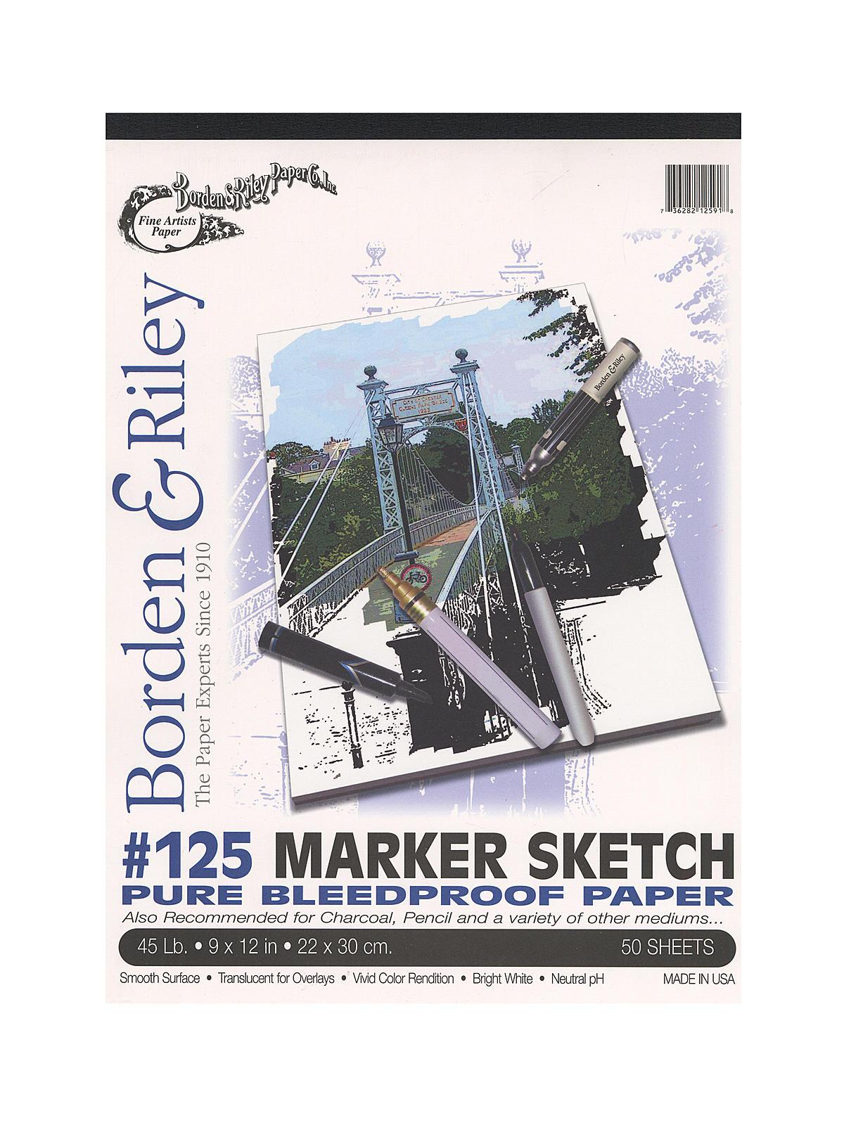 #125 Marker Sketch Pad