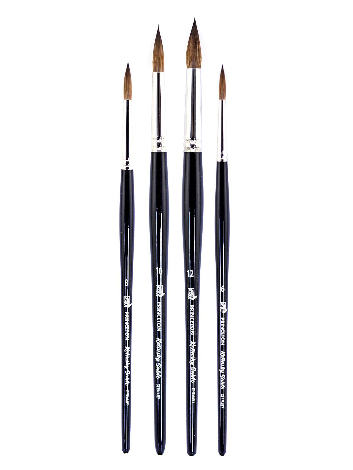 Series 7050 Short Handled Kolinsky Sable Brushes