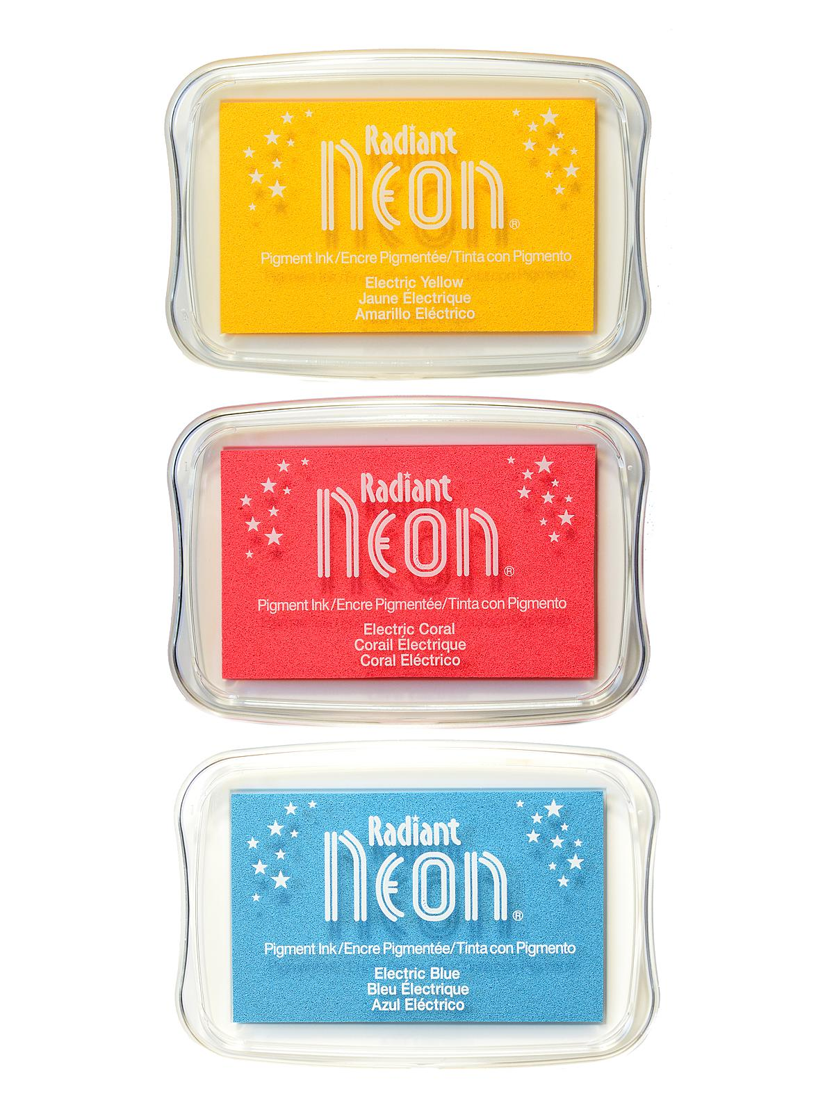 Radiant Neon Pigment Ink Pads