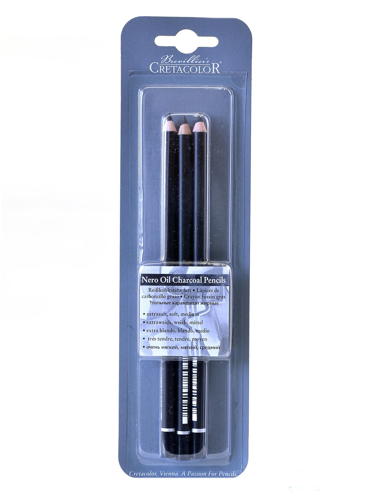 Cretacolor - Nero Oil Charcoal Set