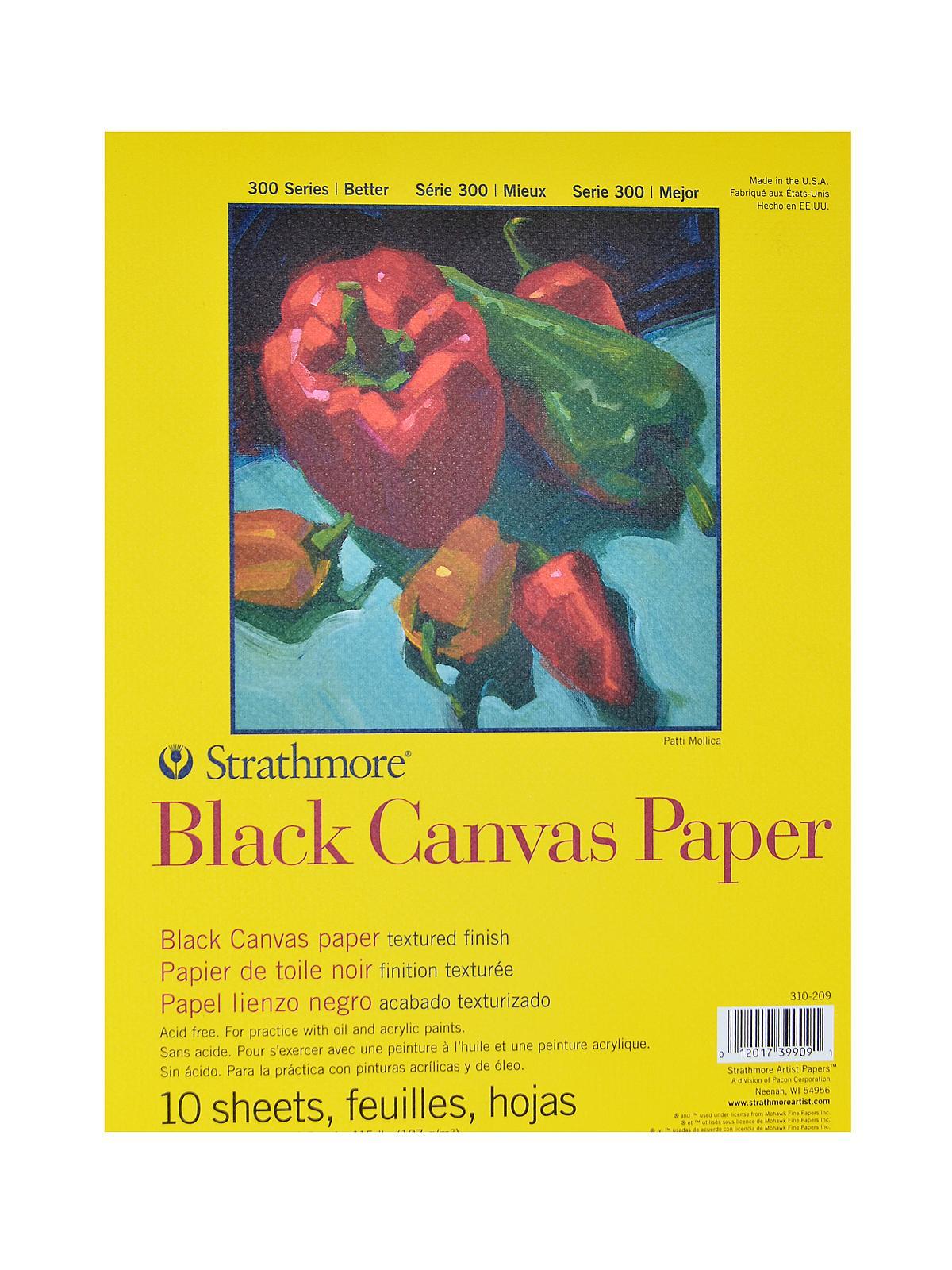 300 Series Black Canvas Paper