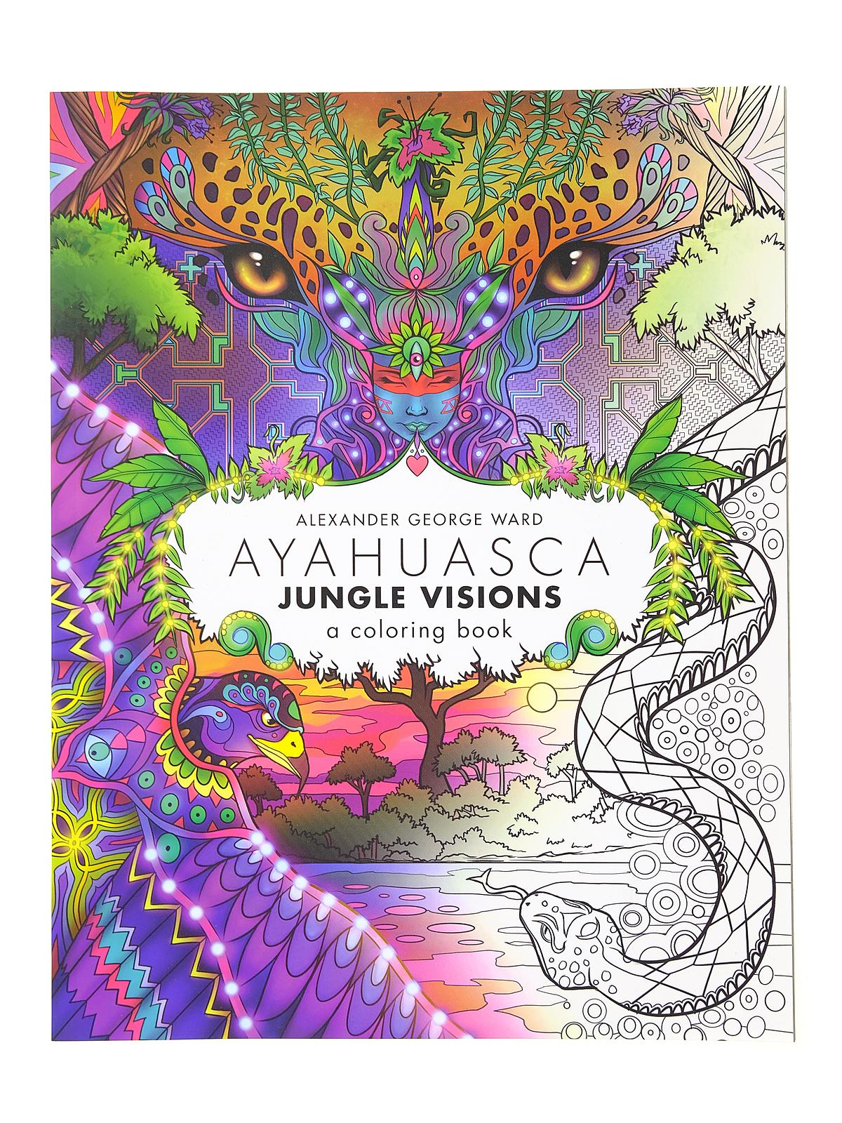 Ayahuasca Jungle Visions Coloring Book