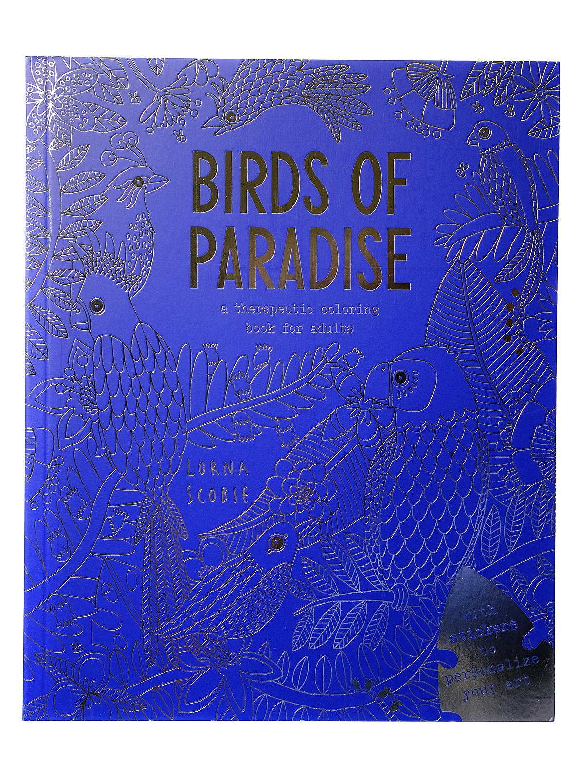 Birds of Paradise Adult Coloring Book