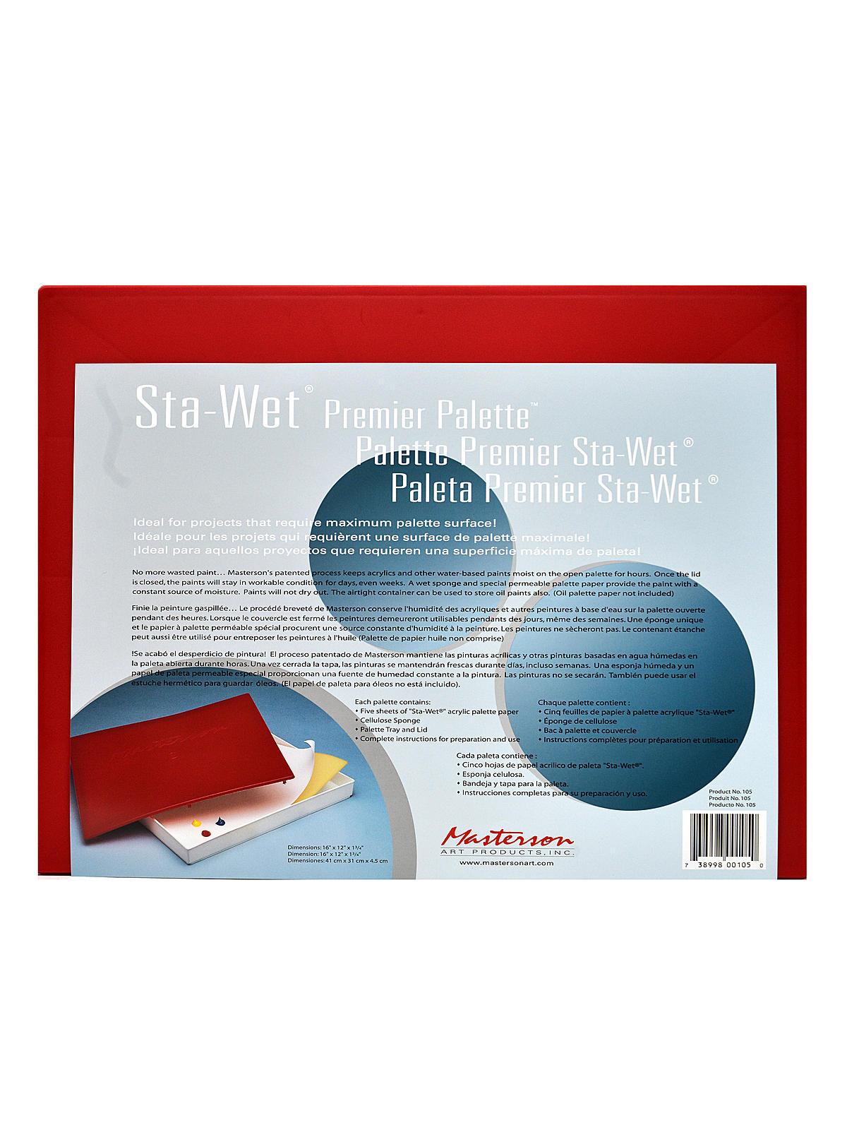 Sta-Wet Premier Palette
