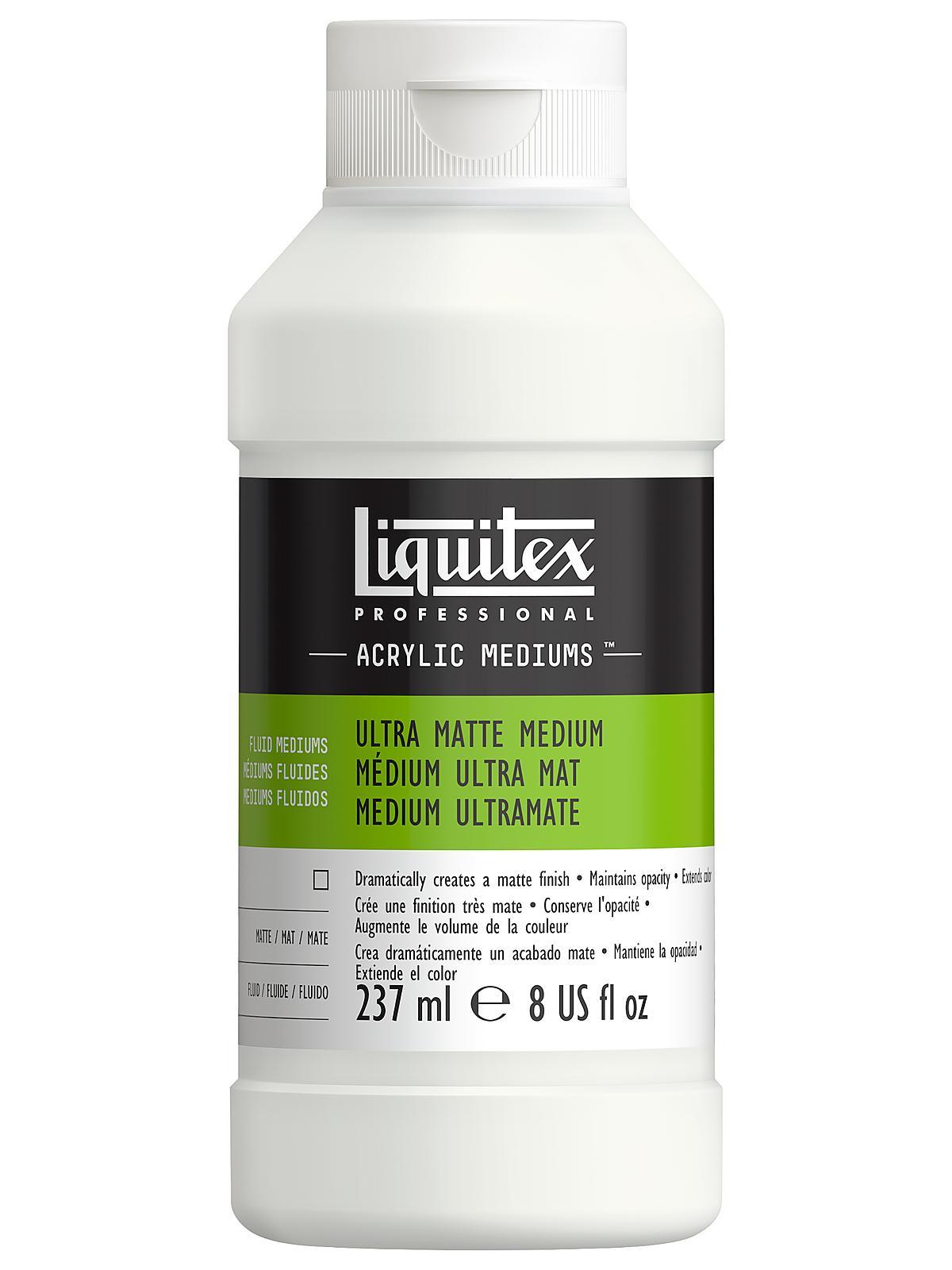 Liquitex ultra matte medium for Gloss medium for acrylic painting
