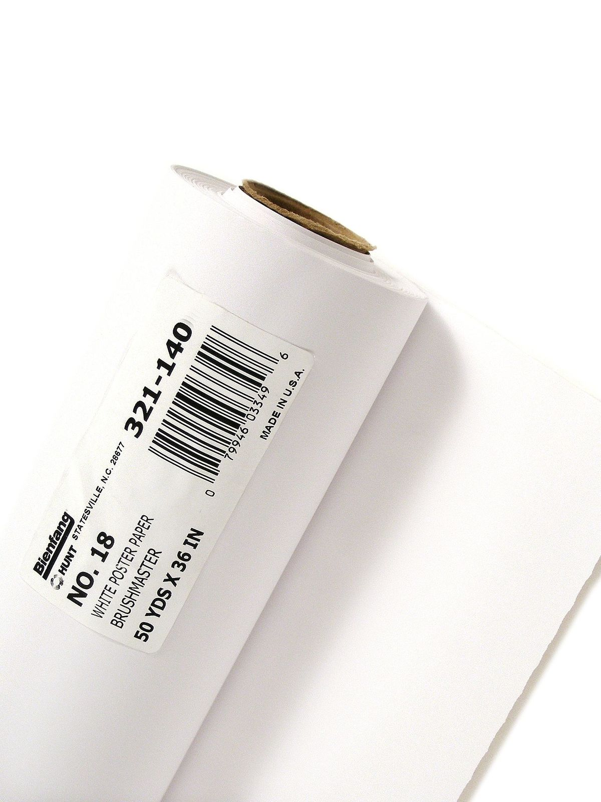 No. 18 White Poster Paper Roll